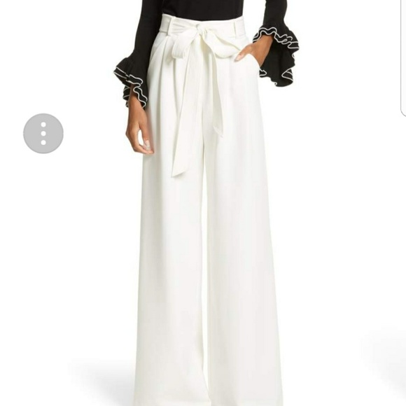 40294ee27bc2 NWT White Wide Leg Dress Pants with Tie Waist